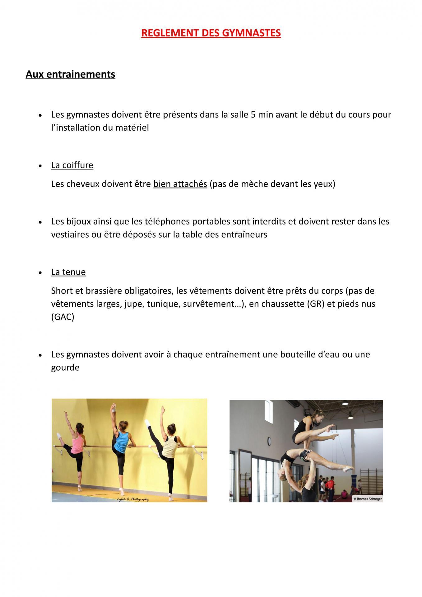 Reglement des gymnastes 01